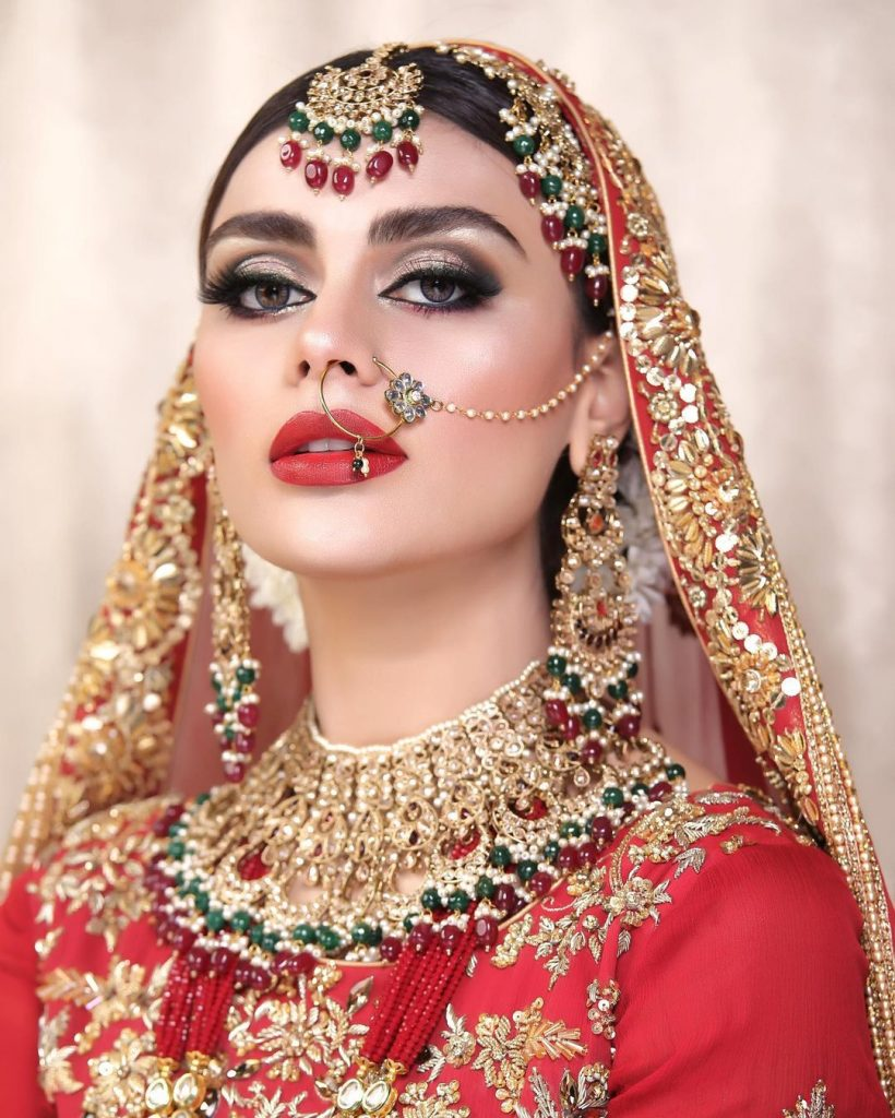 In picture: #SadafKanwal has recently appeared in a stunning bridal shoot