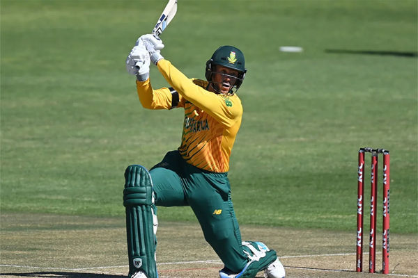 George Linde South Africa Second T20 Match