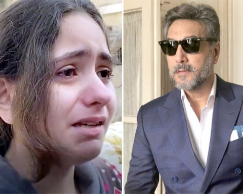 Palestinian Girl Crying and Adnan Siddiqui