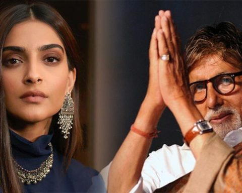 Sonam Kapoor and Amitabh Bachan Eid Celebration